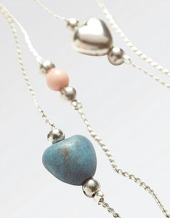 Heart Two Strand Long Necklace