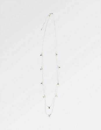 Heart And Star Long Necklace