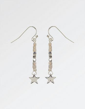 Star and Bead Long Earrings