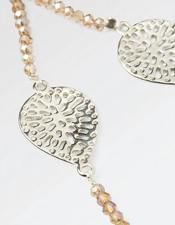 Filigree Bead Long Necklace