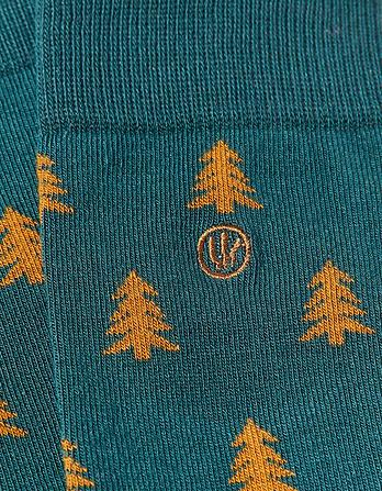 One Pack Christmas Trees Socks