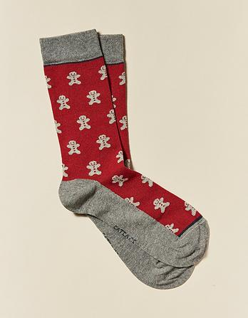 One Pack Gingerbread Socks