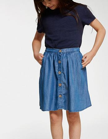 Kara Button Through Skirt