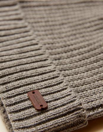 Knitted Rib Beanie