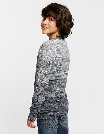 Henley Block Stripe Sweater