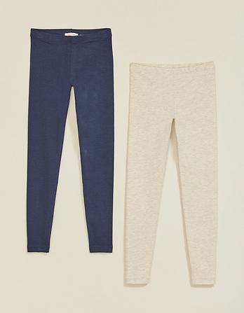 Two Pack Plain Leggings