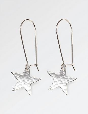 Long Star Earrings
