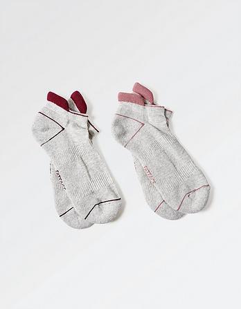Two Pack Athleisure Sneaker Socks