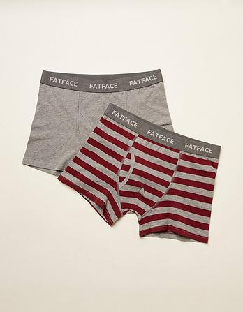 Two Pack Wide Stripe Boxers