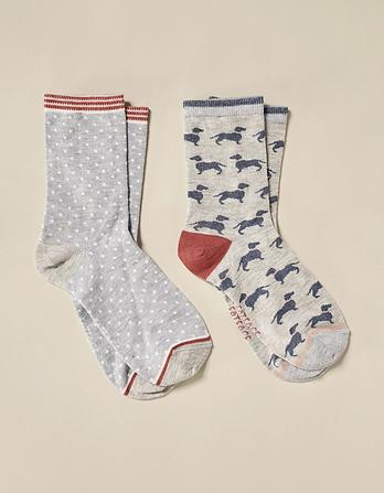 Two Pack Dog Bamboo Socks