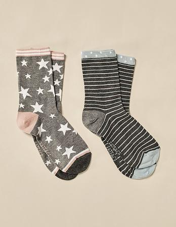 Two Pack Star Bamboo Socks