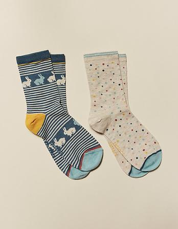 Two Pack Bunny Bamboo Socks