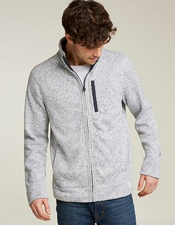 Mells Knit Zip Thru Sweatshirt