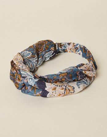 Tapestry Floral Twist Headband