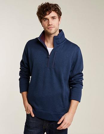 Mells Knit Half Neck Sweatshirt