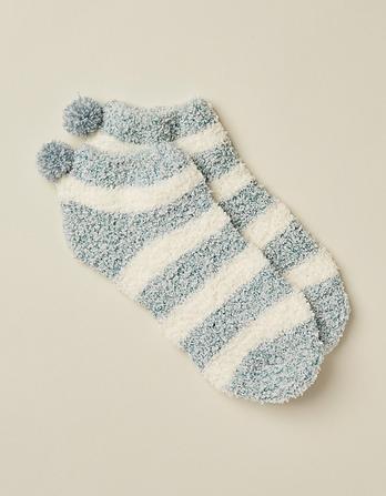 Fluffy Stripe Footlets