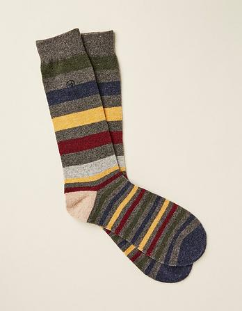 Wool Blend Stripe Socks