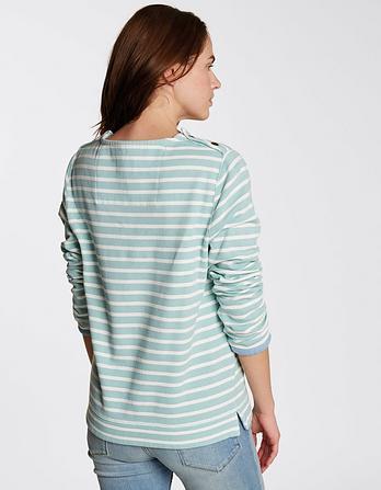 Airlie Stripe Crew Neck Sweatshirt