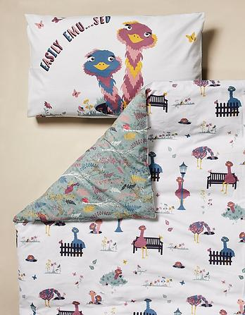 Elsie Emu Single Duvet Cover Set