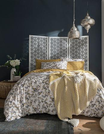 Oriental Bird Single Duvet Cover Set