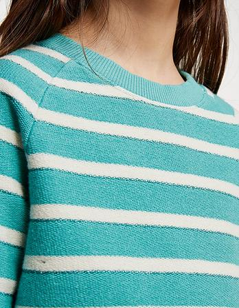 Stripe Lurex Crew Neck Sweatshirt