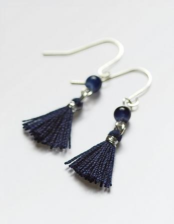 Small Tassel Drop Earrings