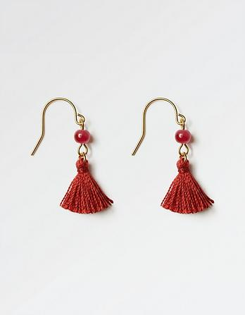 Small Tassel Drop Earrings