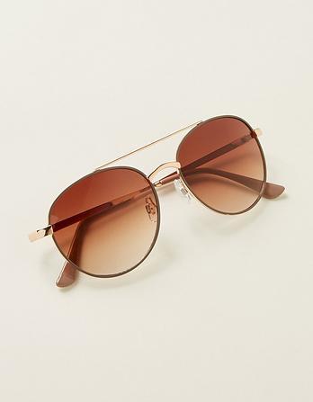 Round Pilot Sunglasses