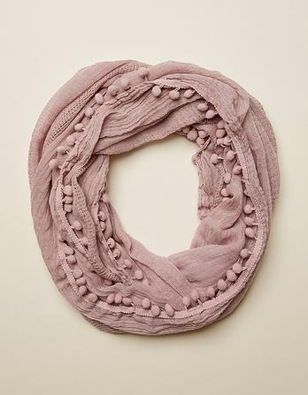 Pom Pom Edge Plain Snood