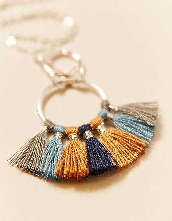 Multi Tassel Long Necklace