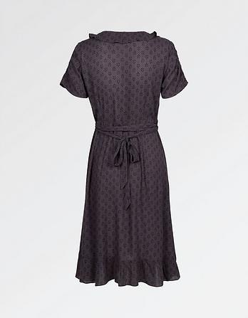 Greta Diamond Dot Wrap Dress