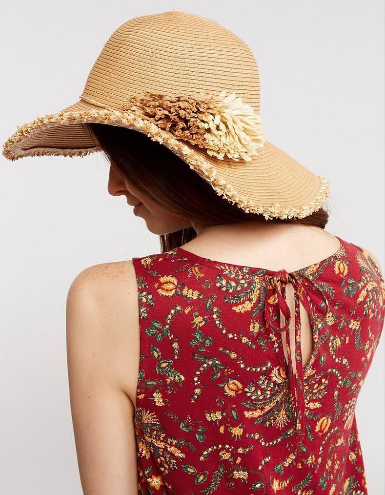b0954bb0 Natural Pom Pom Straw Hat, Hats   FatFace.com