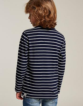 Textured Stripe Henley T-Shirt