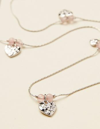 Heart Bead Long Necklace