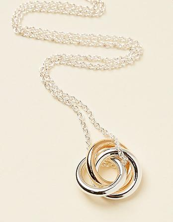 Multi Rings Short Necklace