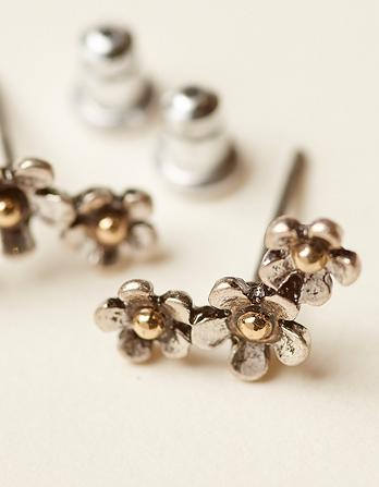 Three Row Flower Stud Earrings