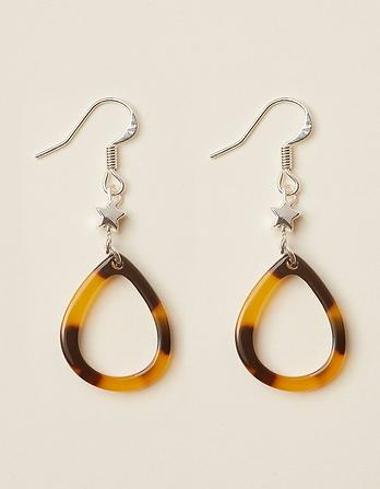 Patterend Tear Drop Earring