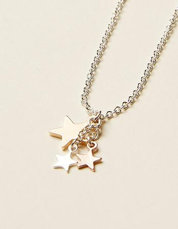 Multi Star Short Necklace