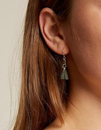 Tassel Disc Earrings