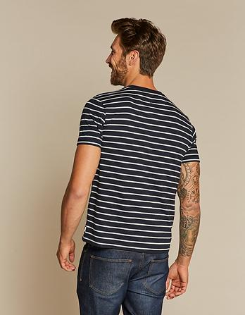 Jacquard Stripe Henley T-Shirt