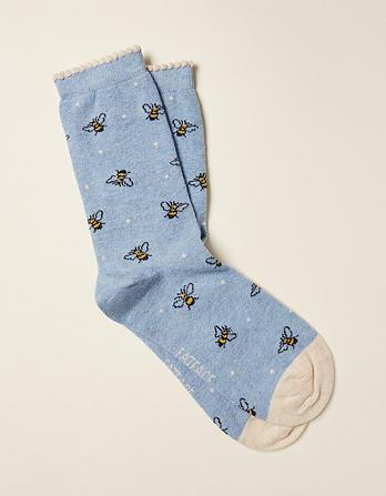 One Pack Spotty Bee Socks
