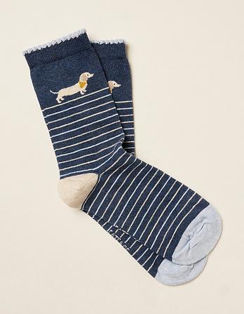 One Pack Sausage Dog Socks