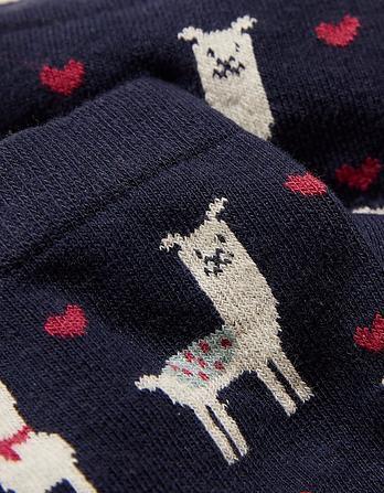 One Pack Llama Socks
