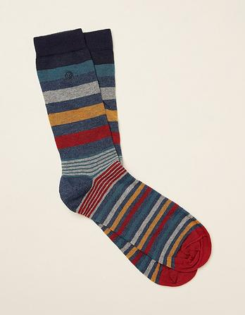 One Pack Matt Stripe Socks