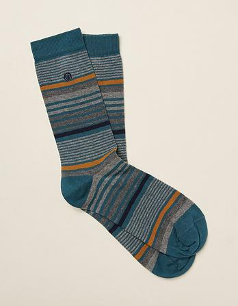 One Pack Reece Stripe Socks