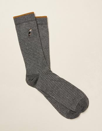 One Pack Toucan Emb Socks