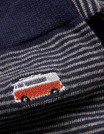 One Pack Camper Embroidered Socks
