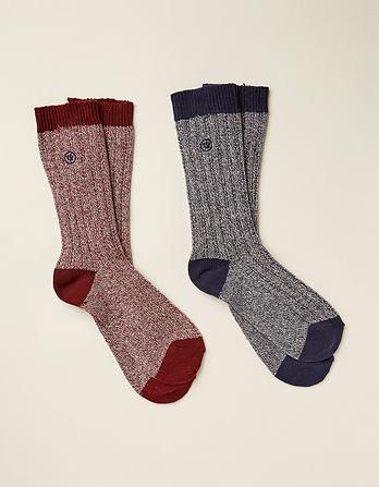 Two Pack Nathan Boot Socks