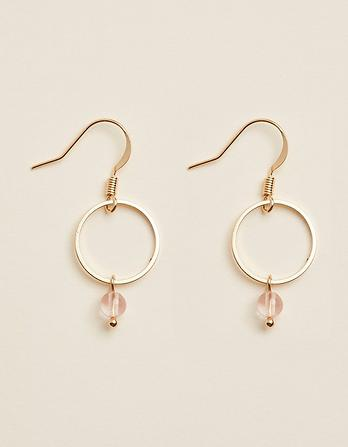Hoop And Bead Earring