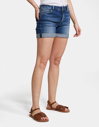 Clean Blue Denim Shorts